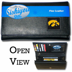 Iowa Hawkeyes Leather Ladies Wallet - BACKORDERED