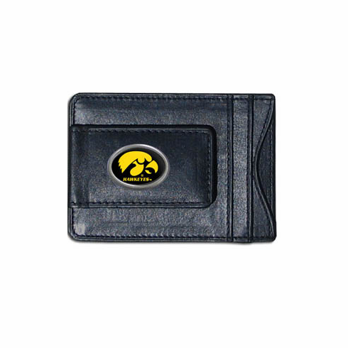 Iowa Leather Cash and Card Holder