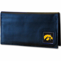 Iowa Leather Checkbook Cover