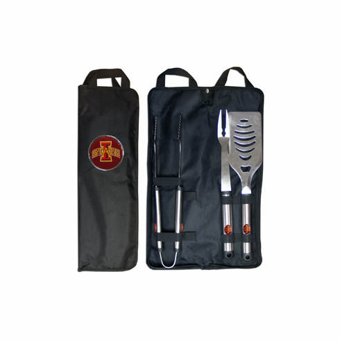 Iowa State Cyclones 3pc Stainless Steel BBQ Set w/ Bag - BACKORDERED