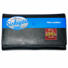 Iowa State Cyclones Leather Ladies Wallet - BACKORDERED