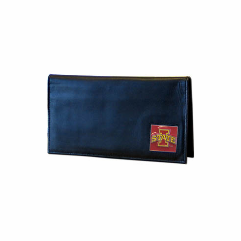 Iowa State Leather Checkbook Cover - BACKORDERED