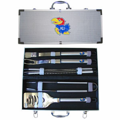 Kansas Jayhawks 8pc BBQ Set