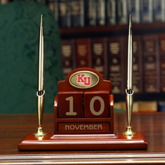 Kansas Jayhawks Perpetual Calendar Desk Caddy - BACKORDERED