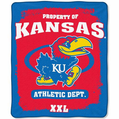 Kansas Jayhawks Property of Raschel Blanket
