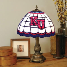 Kansas Jayhawks Stained Glass Table Lamp