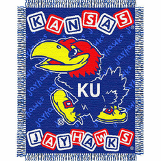 Kansas Jayhawks Triple Woven Jacquard Baby Throw