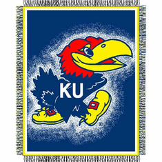 Kansas Jayhawks Triple Woven Jacquard Throw