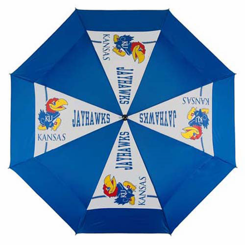 Kansas Jayhawks WindSheer II Auto-Open Umbrella - BACKORDERED