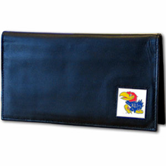 Kansas Leather Checkbook Cover - BACKORDERED