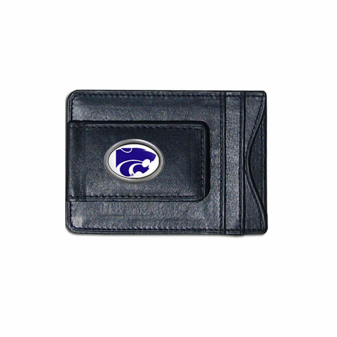 Kansas State Leather Cash and Card Holder