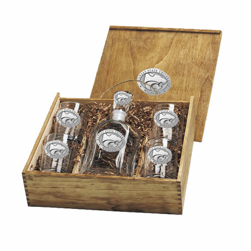 Kansas State Wildcats Capital Decanter Box Set