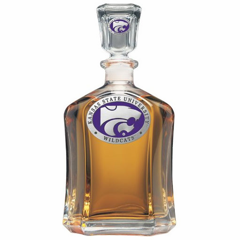 Kansas State Wildcats Glass Decanter