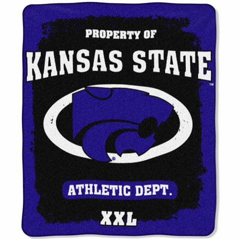 Kansas State Wildcats Property of Raschel Blanket