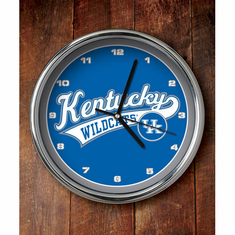 Kentucky Wildcats Chrome Clock