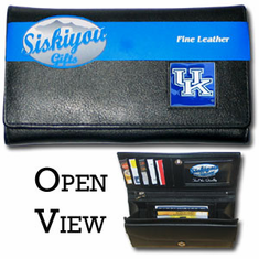 Kentucky Wildcats Leather Ladies Wallet