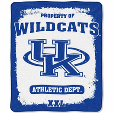 Kentucky Wildcats Property of Raschel Blanket