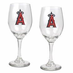 Los Angeles Angels 2pc Wine Glass Set
