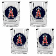 Los Angeles Angels 4pc Square Shot Glass Set