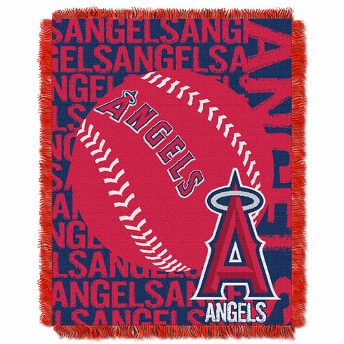 Los Angeles Angels Double Play Jacquard Throw
