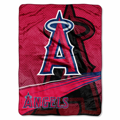 Los Angeles Angels Royal Plush Raschel Blanket