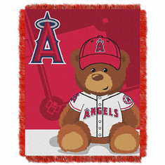 Los Angeles Angels Triple Woven Jacquard Baby Throw