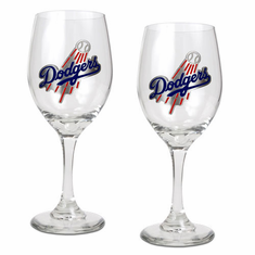 Los Angeles Dodgers 2pc Wine Glass Set