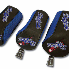 Los Angeles Dodgers Mesh Barrel Headcovers (Set of 3) - BACKORDERED