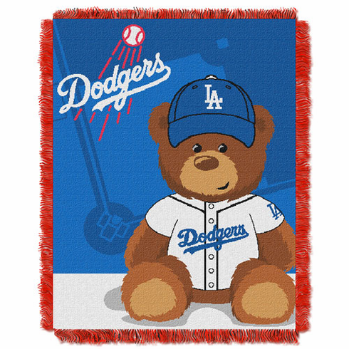 Los Angeles Dodgers Triple Woven Jacquard  Baby Throw