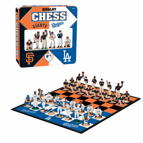 Los Angeles Dodgers vs. San Francisco Giants Rivalry Chess Set - BACKORDERED