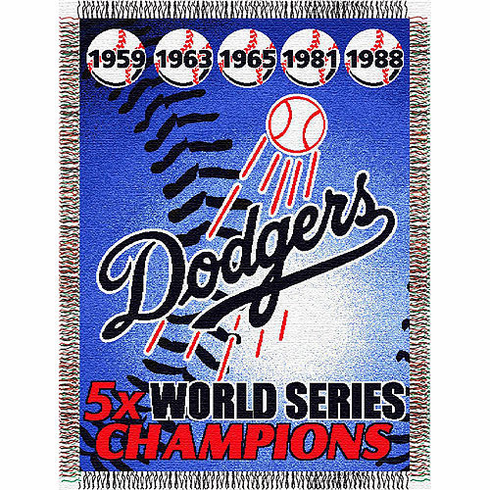 Los Angeles Dodgers World Series Commemorative Woven Tapestry Throw