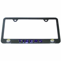 LSU Tag License Plate Frame