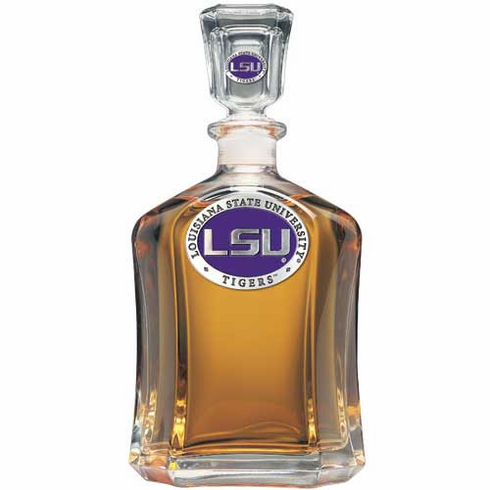 LSU Tigers Glass Decanter