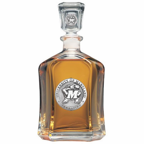 Maryland Terrapins Glass Capital Decanter