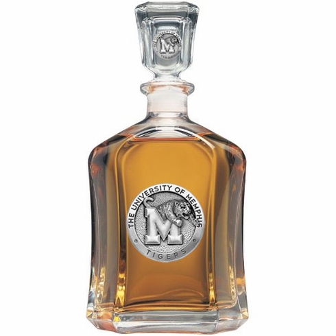 Memphis Tigers Glass Capital Decanter