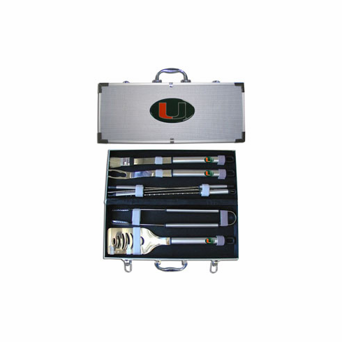 Miami Hurricanes 8pc BBQ Set - BACKORDERED