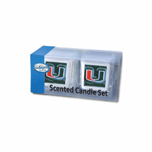 Miami Hurricanes Candle Set - BACKORDERED