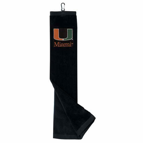 Miami Hurricanes Embroidered Tri-Fold Towel
