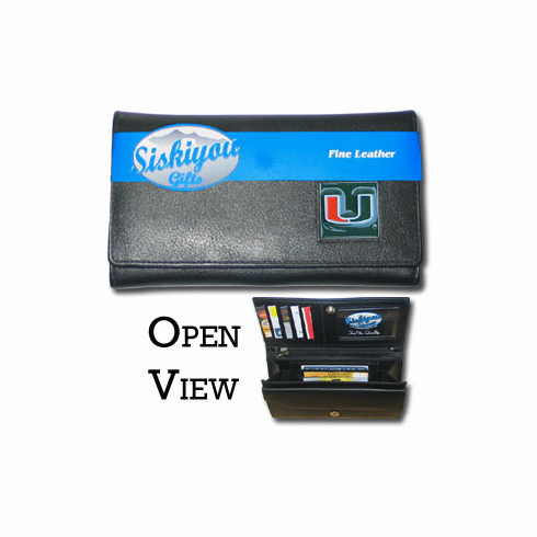 Miami Hurricanes Leather Ladies Wallet