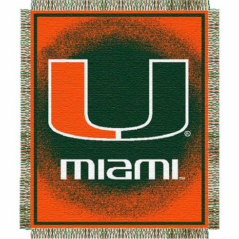 Miami Hurricanes Triple Woven Jacquard Throw