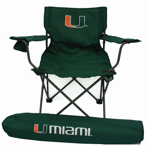 Miami Hurricanes Ultimate Adult Tailgate Chair - BACKORDERED