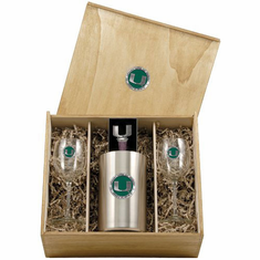 Miami Hurricanes Wine Set Box