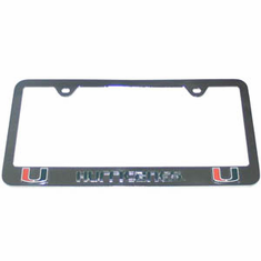 Miami Hurricans Tag License Plate Frame