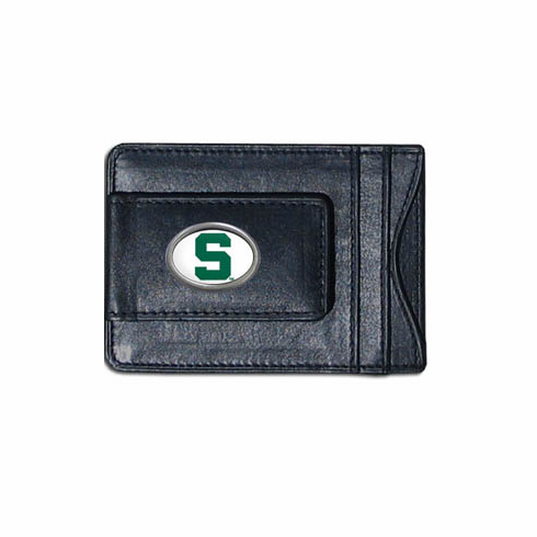 Michigan State Leather Cash and Card Holder - BACKORDERED