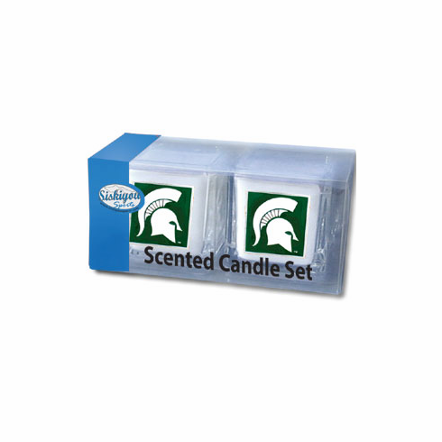 Michigan State Spartans Candle Set - BACKORDERED