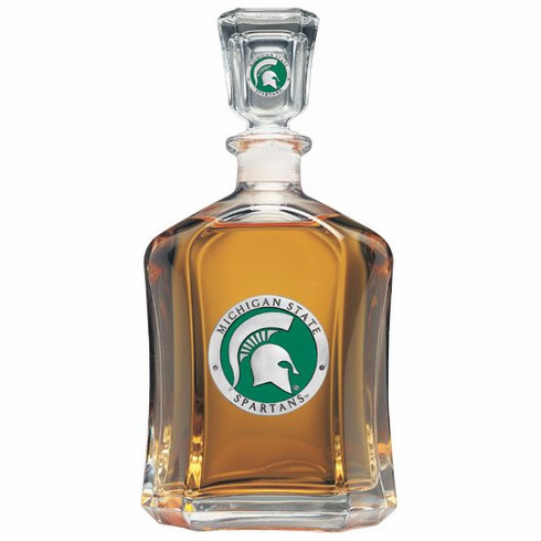 Michigan State Spartans Glass Capital Decanter
