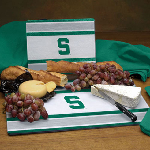 Michigan State Spartans Glass Cutting Board Set - BACKORDERED