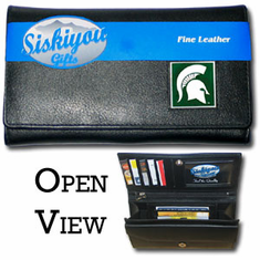Michigan State Spartans Leather Ladies Wallet