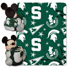 Michigan State Spartans Mickey Mouse with Throw Combo