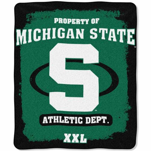 Michigan State Spartans Property of Raschel Blanket - BACKORDERED